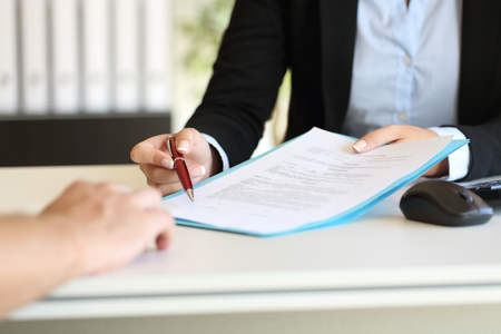 signing an estate sale company contract